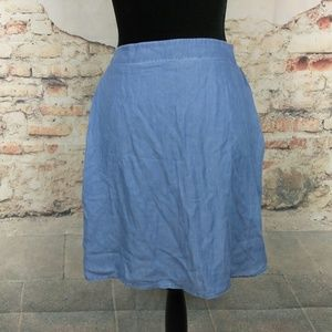 Old Navy XXL Blue Lyocell Chambray Skirt w/Pockets